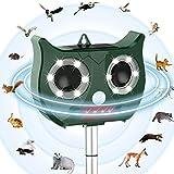 PestOXO Ultrasonic Pest Repeller Solar Powered Waterproof Outdoor Animal Repeller with Ultrasonic Sound