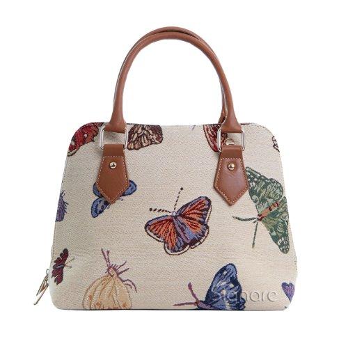 Handbag Bag Top Bag Tapestry Body Handle Cross CONV Women Signare Shoulder BUTT Butterfly xAIYTn