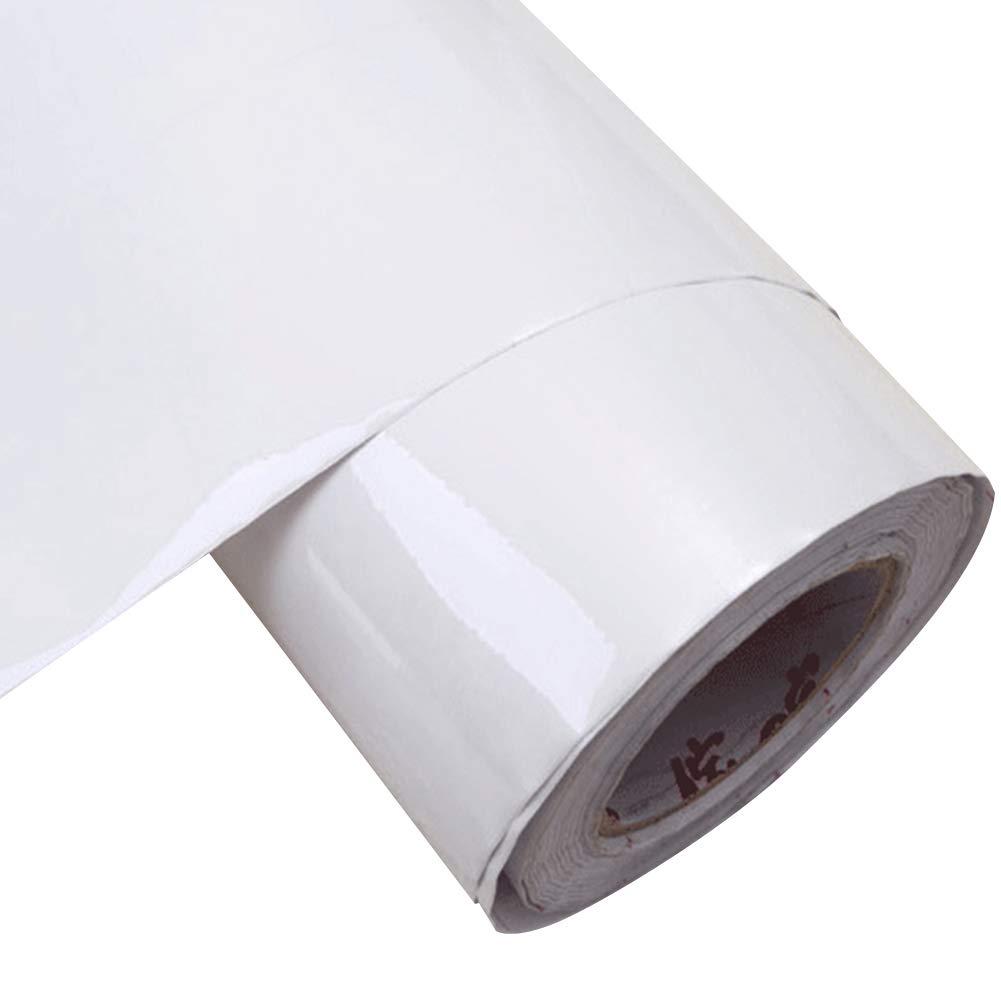 YIZUNNU Kitchen Sticker PVC Self Adhesive Sheet Cabinets Wardrobe,24x98 Inch,Flash Point White