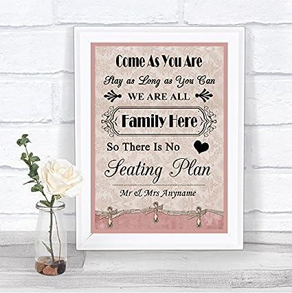 Cartel de boda con texto en inglés