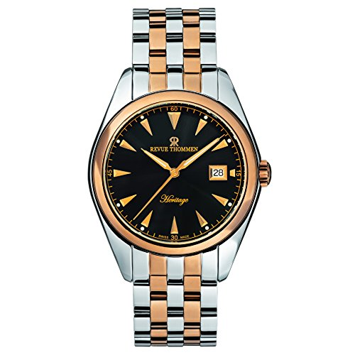 Revue Thommen Men's 21010-2157 Heritage Analog Display Swiss Automatic Two Tone Watch