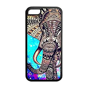Aztec Vintage Elephant Protective Rubber Back Fits Cover Case for iPhone 5C