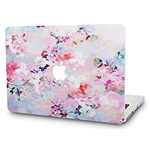 KEC MacBook 12 Inch Case Plastic Hard Shell Cover A1534 (Flower 7)