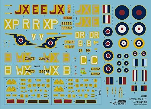 Arma Hobby 1/72 Scale Hurricane Mk II B/C Expert Set - Plastic Model Building Kit # 70042 3