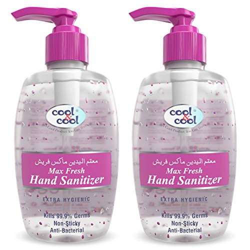Cool & Cool 70% Alcohol Hand Sanitiser Gel with Gentle Moisturising