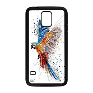 UNI-BEE PHONE CASE For Samsung Galaxy S5 -Funny Parrot-CASE-STYLE 7