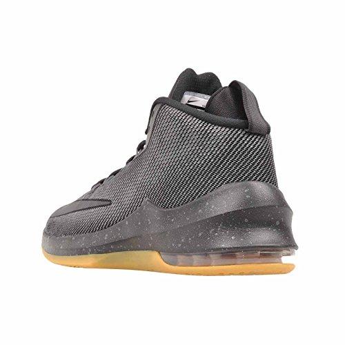 Nike Para Hombre Air Max Infuriate Mid Prm, Negro / Negro - Plata Metalizado Negro / Negro - Plata Metalizado
