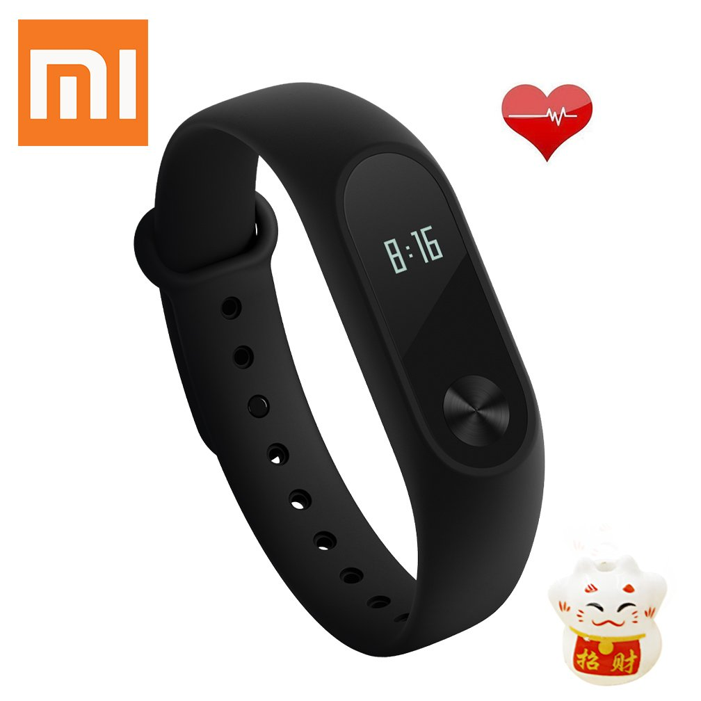 Xiaomi Mi Band 2 Braccialetto per Fitness Activity Tracker Heart Rate Monitor Smart Fitband Huami MGW4024GL