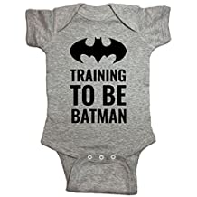 Brain Juice Tees Training to Be Batman Baby One Piece