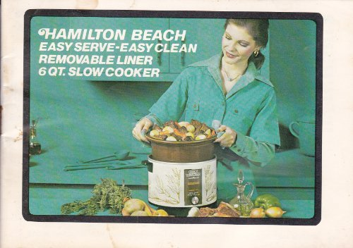 Hamliton Beach Easy Serve - Easy Clean Removable Liner 6 Qt. Slow Cooker Instructions