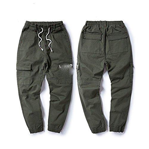 Grandi Grasso Militare Dimensioni Elastici Di Casual Elastico Stazsx Vita Sciolti Pantaloni Apparel Verde In wqHIxUp