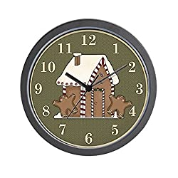 CafePress - Gingerbread House Holiday Wall Clock - Unique Decorative 10 Wall Clock