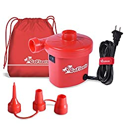 Gofloats Rapid Inflation Electric Air Pump (Ac 110120v) With Tote Bag & Raft Repair Kit