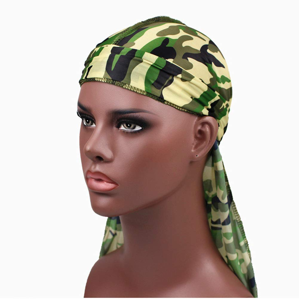 Unisex Silk Laser Polyester Bandana Hat Durag Rag Schwanz Headwrap Geschenk