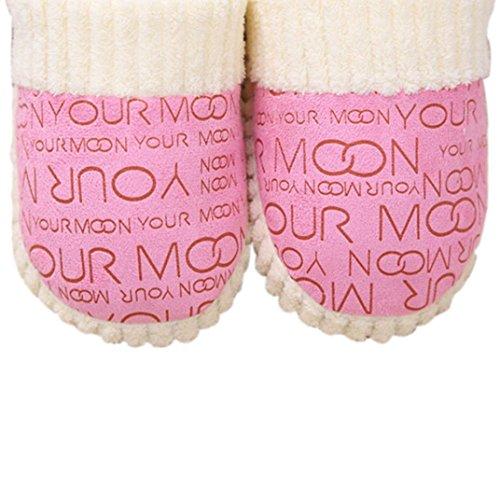 Home Katoen Slipper Euone Dames Dames Home Vloer Zachte Slippers Vrouwelijke Katoen Gevoerde Schoenen Roze