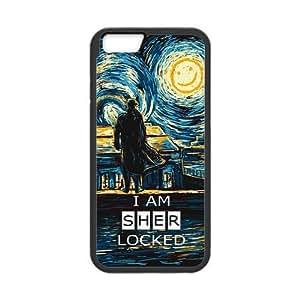 LeonardCustom Protective TPU Rubber Gel Fitted Cover Case for iPhone 6 4.7 inch, Sherlock LCI6U28