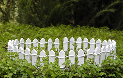 Fairy Garden & DollHouse Build a Fairy Garden Miniature Dollhouse Fairy Garden Furniture ~ White Wood Picket Fence 1'' ~ New Ideas for Everyone