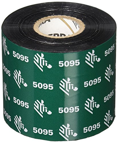 Zebra 5095 Black Resin Ribbon - 6 Rolls 05095BK06045 Black 5095 Resin Printer Ribbon