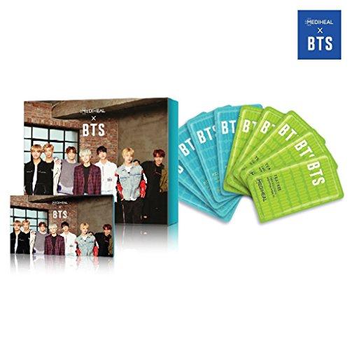 [MEDIHEAL] MEDIHEAL X BTS Facial Mask Sheet Special Set/Mask Sheet 10ea + BTS Photocard 14ea (04 Skin Soothing Care)