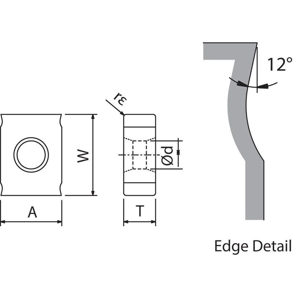 Indexable Milling Insert Kyocera LNEU 124508S PR0725 Grade PVD Carbide 10 Pieces