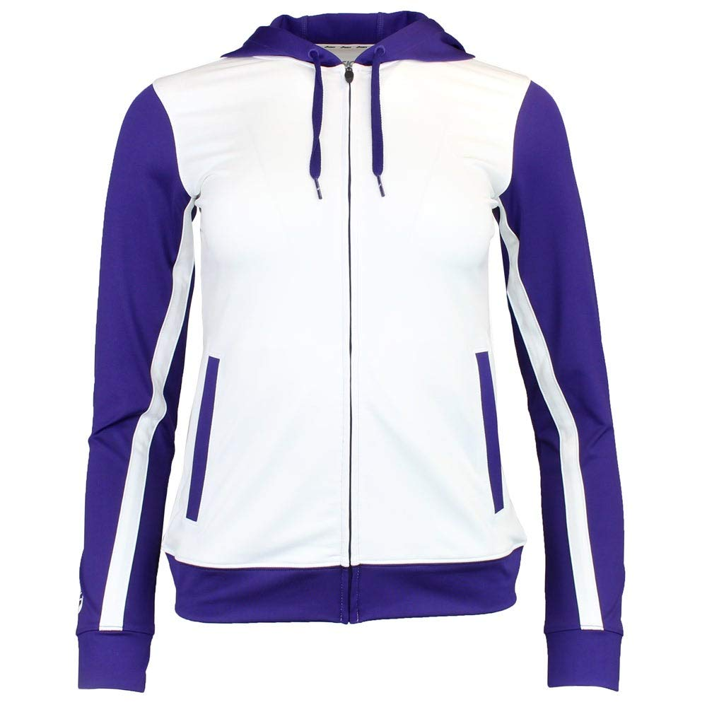 ASICS Unisex-Child Jr. Lani Jacket, White/Purple, Large by ASICS
