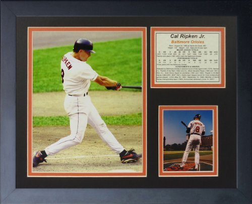 """Legenden Sterben Nie """"Cal Ripken Vlies"""" gerahmtes Foto Collage, 11 x 35,6 cm von Legends Never Die"""