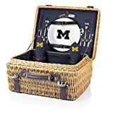 NCAA Michigan Wolverines Champion Picnic Basket with Deluxe Service for Two, Navy