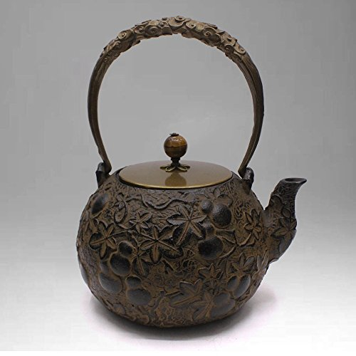 TOWA Workshop Tetsubin Cast Iron Teapot Kettle High-end Gourd Japanese Style 1.2L No Enamel Interior
