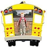 Personalized School Bus Picture Frame Christmas Ornament for Tree