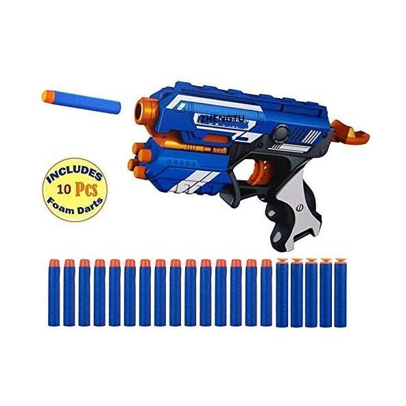 ZHENGTU Bleze Storm Manual Soft Bullet Shooting Gun Toy with 10 Safe Foam Bullets for Kids (fire Gun)