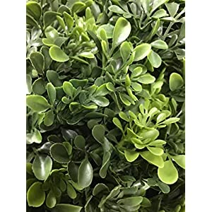 """Artificial UV Rated Outdoor 22"""" Ball Boxwood Topiary Bush Bundled with Rock Planter Cover, by Silk Tree Warehouse 2"""