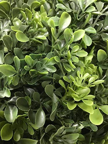 Artificial-UV-Rated-Outdoor-22-Ball-Boxwood-Topiary-Bush-Bundled-with-Rock-Planter-Cover-by-Silk-Tree-Warehouse