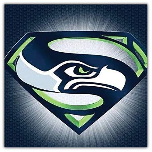 Seattle Mascot Seahawks - Seattle Seahawks NFL Super Mascot Car Bumper Sticker Decal 5'' X 5''