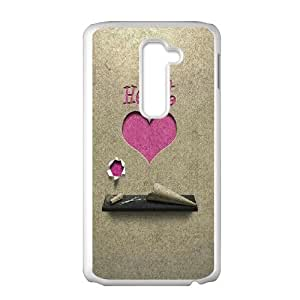 LG G2 Cell Phone Case White Paper Pink Love Heart Cutting Artwork BNY_6939723