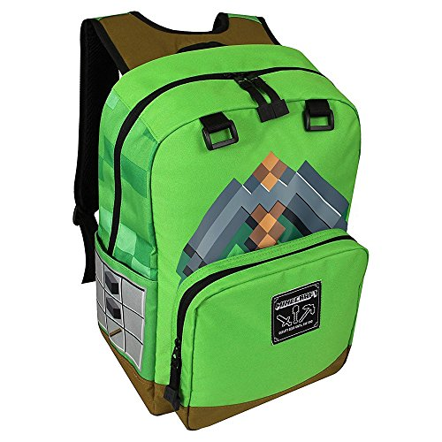 bb0dae5c0b69 JINX Minecraft Pickaxe Adventure Kids Backpack (Green