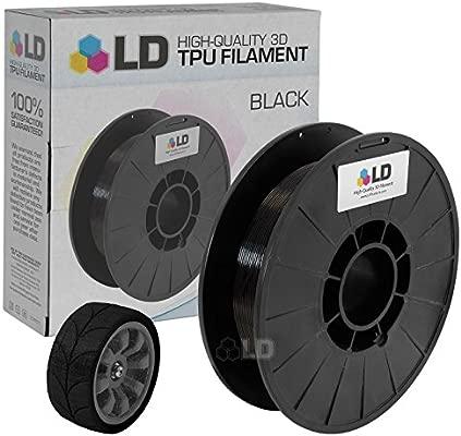 LD Negro 1,75 mm 0,5 kg Tpu filamento para impresoras 3d: Amazon ...