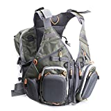 EDTara Fly Fishing Vest Pack Sling Pack Backpack Multifunction Pockets Waistcoat Jacket for Outdoor Activities