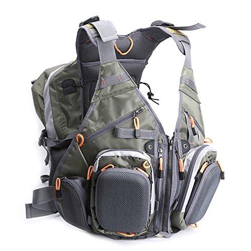 Fly Fishing Backpack & Vest Multifunction Pockets Waistcoat Jacket Tackle Vest For Men & Women's Fishing Gear Organization
