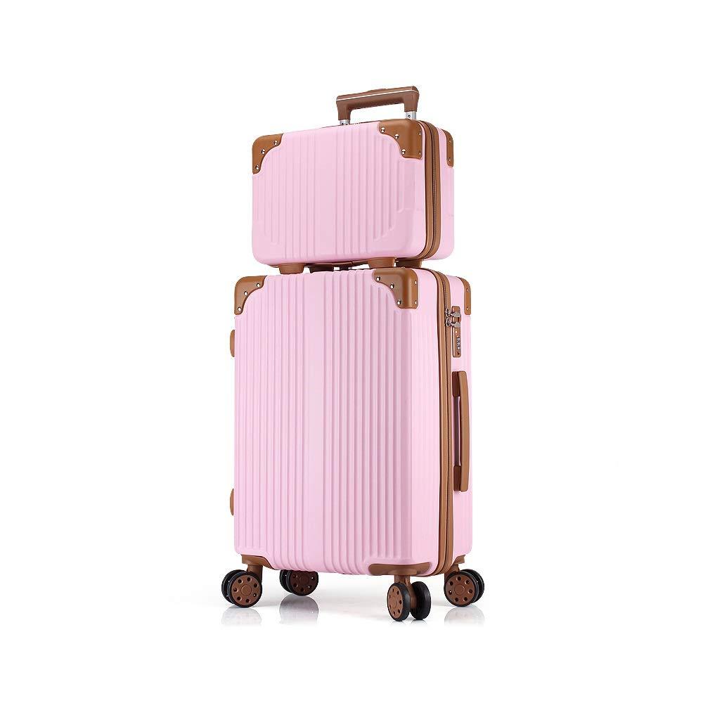 XF トロリーケース小さな新鮮なパスワードスーツケース学生男性と女性の普遍的なホイール旅行荷物化粧品ケース、から選択する6色 トラベルバッグスーツケース (Color : D) B07T4JVVXJ D
