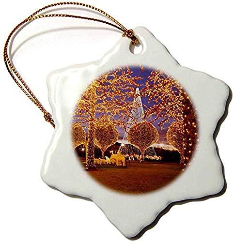 MOR Porcelain Snowflake Ornament, 3-Inch,Christmas, Opryland Hotel, Nashville, Tennessee USA-Brian Jannsen (Christmas Hotel Opryland)