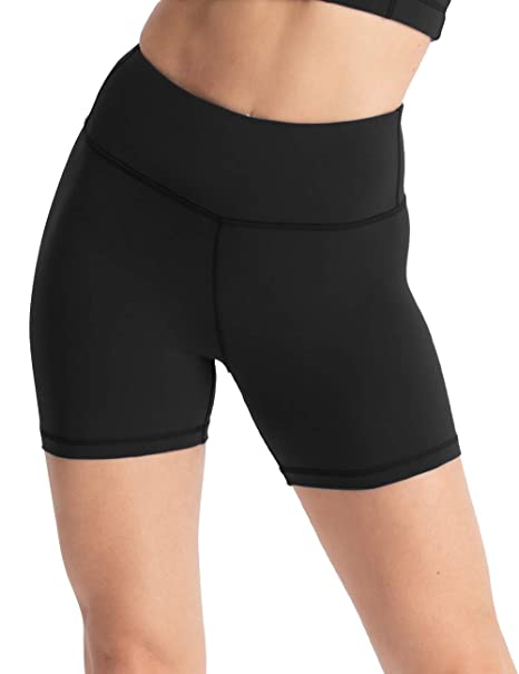"955b4866898 Hopgo Women's 4"" Training Bike Shorts High Waist Worktout Shorts Tummy  Control Yoga Shorts Tight"