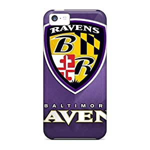 Perfect Hard Cell-phone Cases For Iphone 5c With Allow Personal Design High Resolution Baltimore Ravens Pattern Nice-cheap-cases