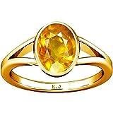 Divya Shakti 3.25 - 3.50 Carats Yellow Sapphire Ring ( Pukhraj Stone Panchadhatu Ring ) 100% Original AAA Quality Gemston