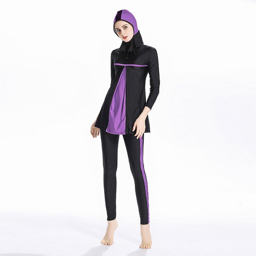 islamico donne Hijab costumi da bagno copertura completa Swimwear Musulmano nuoto Beachwear Mr Lin123