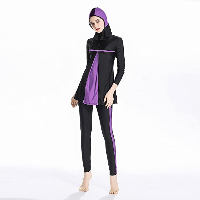 03c0b2c44c9 Mr Lin123 Islamic Women Hijab Swimwear Full Coverage Swimwear Muslim  Swimming Beachwear Swimsuit: Amazon.co.uk: Sports & Outdoors