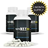 Testomax 200 - Testosterone Booster for Men - Natural Testosterone Booster Supplements 3 Pack