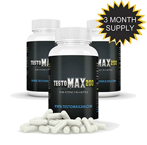 Testomax 200 - Testosterone Booster for Men - Natural Testosterone Booster Supplements 3 Pack by Testomax 200