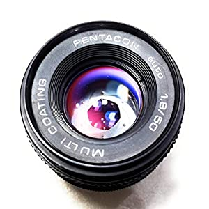 Rm Camera- Pentagon auto 1.8/50mm M42 Screw Mount Multi Coating Lens.