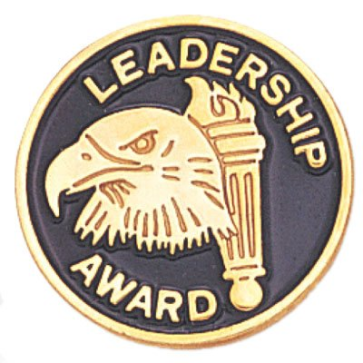 3/4 Inch Leadership Award Lapel Pin - Package of 12, Poly Bagged