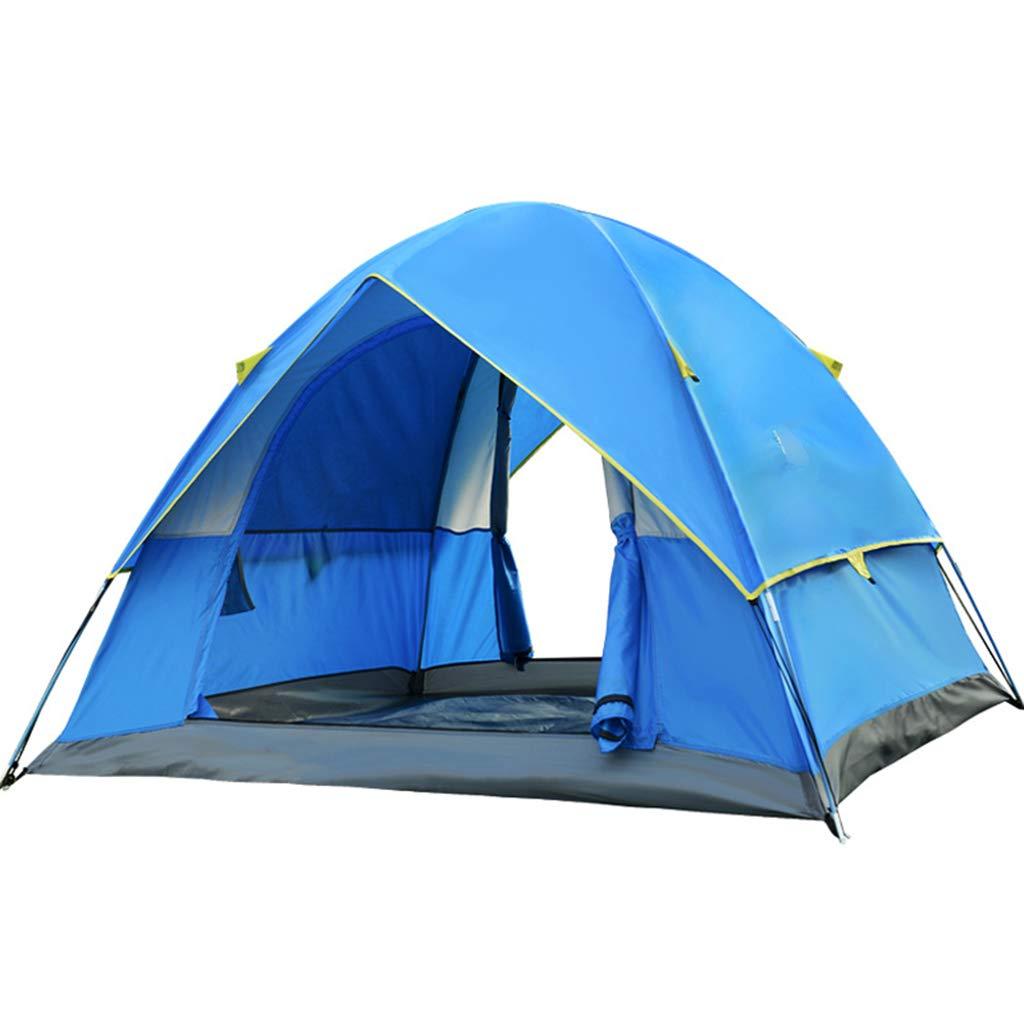 YaNanHome Doppeltes windundurchlässiges und regendicht Zelt des Zeltes im Freien Zelt des Zeltes Doppelte Farbe wahlweise freigestellt (Farbe : Blau, Größe : 200  200  135cm)